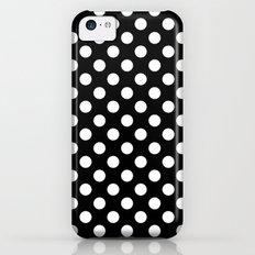 Black and White Polka Dot Pattern Slim Case iPhone 5c