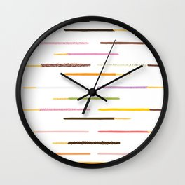 21 Flavors of Pocky - white Wall Clock