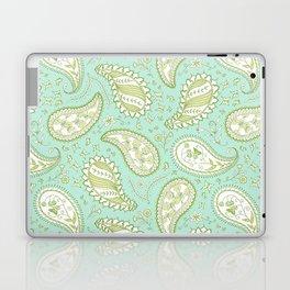 Pretty Paisley - Aqua/Green Laptop & iPad Skin