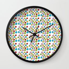 Circle and abstraction 3-abstraction,abstract,geometric,geometrical,pattern,circle,sphere Wall Clock