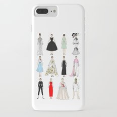 Outfits of Audrey Hepburn Fashion (White) iPhone 7 Plus Slim Case