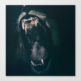 Lions roar Canvas Print