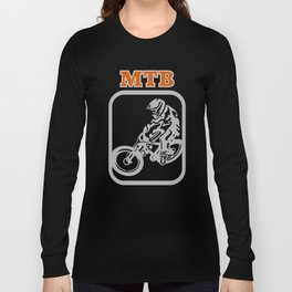 Downhill Mountain Bike Long Sleeve T-shirt