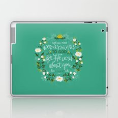 1 Peter 5:7 - Give All Your Worries And Cares To Him Laptop & iPad Skin