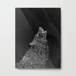 Midnight Wolf Metal Print