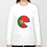portugal Long Sleeve T-shirts featuring Portugal Smile by onejyoo