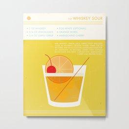 Whiskey Sour Cocktail Art Print Metal Print