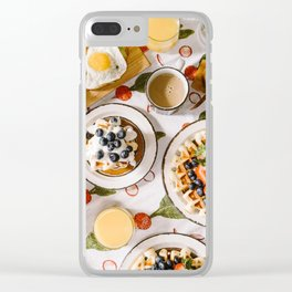 breakfast of champions #society6 #decor #buyart Clear iPhone Case