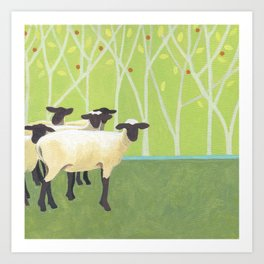 Sheep Crossing Art Print