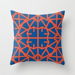 Diamond Bug - Flame and Lapis Blue Throw Pillow