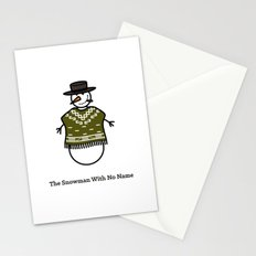 The Snowman With No Name Stationery Cards