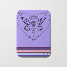 On the wings of a butterfly Bath Mat