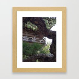 Temple through the Trees Photograph Framed Art Print