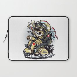 Smoke Skull Driver Moped - Texas cigar Laptop Sleeve