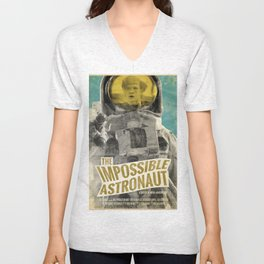 "Doctor Who ""The Impossible Astronaut"" Retro Movie Poster Unisex V-Neck"