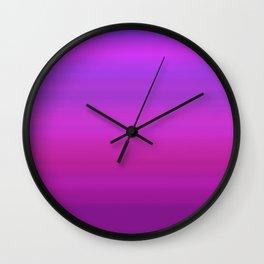 Purple & Blue Stripes | Bright gradient pattern Wall Clock