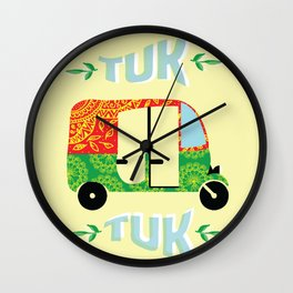 Tuk tuk #society6 Wall Clock