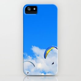 """""""Parasailing #13"""" with poem: Friends and Birthdays iPhone Case"""