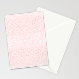 Hearts in light pink Stationery Cards