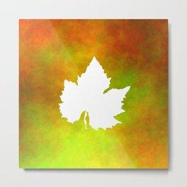 Harvest Time Grapes Leaf 2 Metal Print