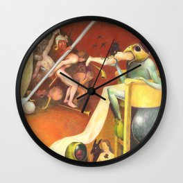 Golf Course In Hell Wall Clock