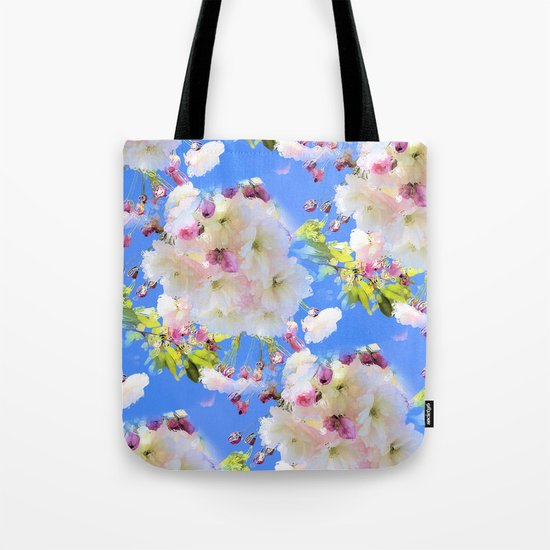 Cherry Blossom Girl Tote Bag