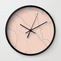 maps Wall Clocks featuring Maps Maps Maps by Sarah McMahon