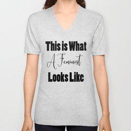 I Am a Feminist Unisex V-Neck
