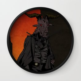 His Red Right Hand Wall Clock