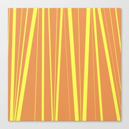 Orange And Yellow Stripes - Abstract Sunshine Canvas Print