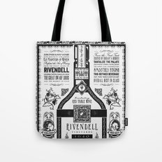 Lord of the Rings Rivendell Vineyards Vintage Ad Tote Bag