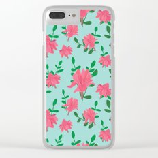 Ginger flowers Clear iPhone Case