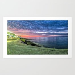 Cromer Beach U.K at Sunset Art Print
