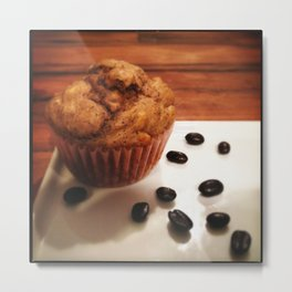 Coffee Muffins Metal Print