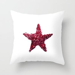 Pink Watercolour Star, Watercolor, Nursery decor, New Baby Gift, Fine art painting fr Throw Pillow