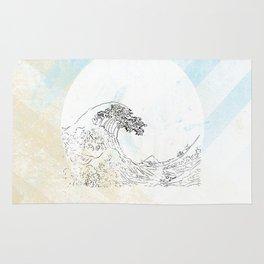 the great wave... illustration interpretation.. hosukai Rug