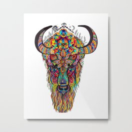 Body of Bison-Spirit of Dragon  Metal Print