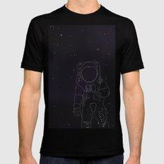 Spaceman Black Mens Fitted Tee MEDIUM