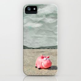Piggy on holiday iPhone Case