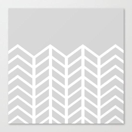 LACE CHEVRON (GRAY) Canvas Print