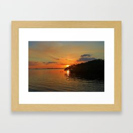 Darkness on the Edge of Light Framed Art Print