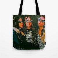 haim Tote Bags featuring Haim Print by Bolin Cradley Art