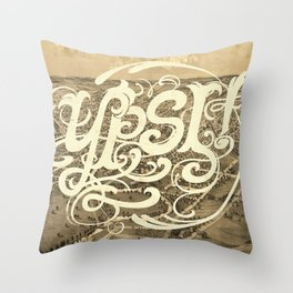 Ypsi! Throw Pillow