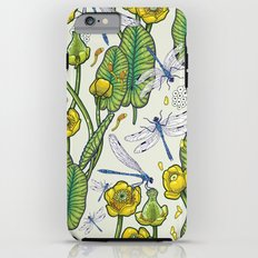 yellow water lilies and dragonflies iPhone 6s Plus Tough Case