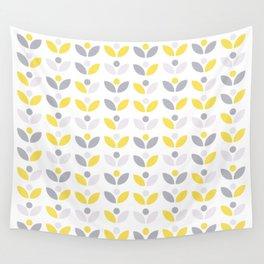 Yellow and Grey Abstract Flower Pattern #society6 #decor #buyart #artprint Wall Tapestry