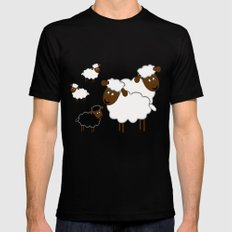 The black sheep Black LARGE Mens Fitted Tee