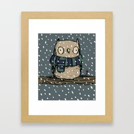 Chilly Owl Framed Art Print