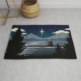 Silent Night - Submarine Christmas Rug
