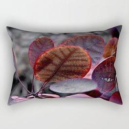 Bleeding Red Leaves Rectangular Pillow