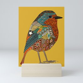 robin gold Mini Art Print